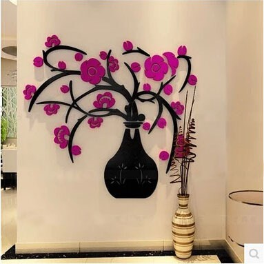 3-colours-3d-flower-wall-sticker-stereo-acrylic-crystal-vase-waterproof-mural-wall-decor-adesivo-de