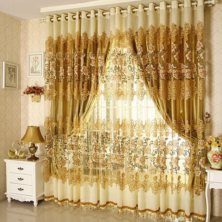 Window-Curtain-For-Living-Room-Bedrooms-Hotel-100-Blackout-Finished-Luxury-Curtains-Tulle-Beads-Purple-Brown